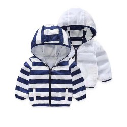 "Ветровка ""Navy Striped White"" двусторонняя"