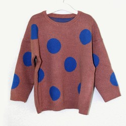 "Джемпер Komi Bear ""New Look"" Dots Brown"