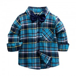 "Рубашка KIDS TALES ""Checkwork Large Blue"""